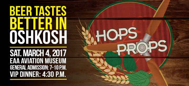 EAA'S 13TH ANNUAL HOPS & PROPS BEER TASTING EVENT RETURNS MARCH 4